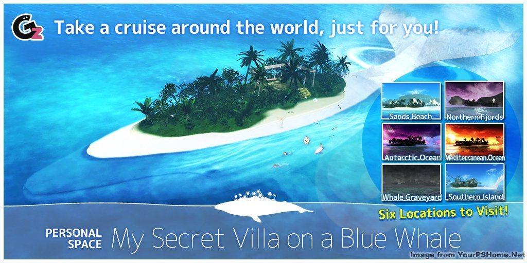 My Secret Villa & Paradise on a Blue Whale from Granzella - July 2nd, 2014, kwoman32, Jun 30, 2014, 4:11 PM, YourPSHome.net, jpg, 20140702_Whale PS.jpg