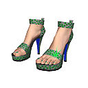 New LIVING Additions & Strictly Sparkle clothing from JAM Games - Aug. 6th, 2014, kwoman32, Aug 5, 2014, 12:05 AM, YourPSHome.net, png, Green_Sandal_shoes_128x128.png