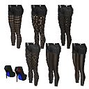 Tights and boots bundle.