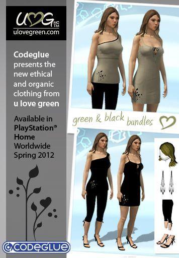 Exclusive : Ypsh Member & Ps Home User, Danikaa-g Brings Her Clothing Designs To Ps Home This Week!, kwoman32, May 21, 2012, 9:21 PM, YourPSHome.net, jpg, U-LOVE-GREEN_CODEGLUE_web-poster_BUNDLES.jpg